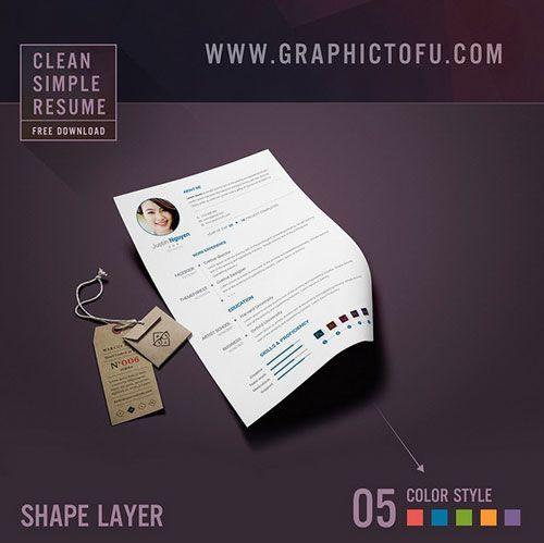 Free-Clean-Simple-Resume-Template