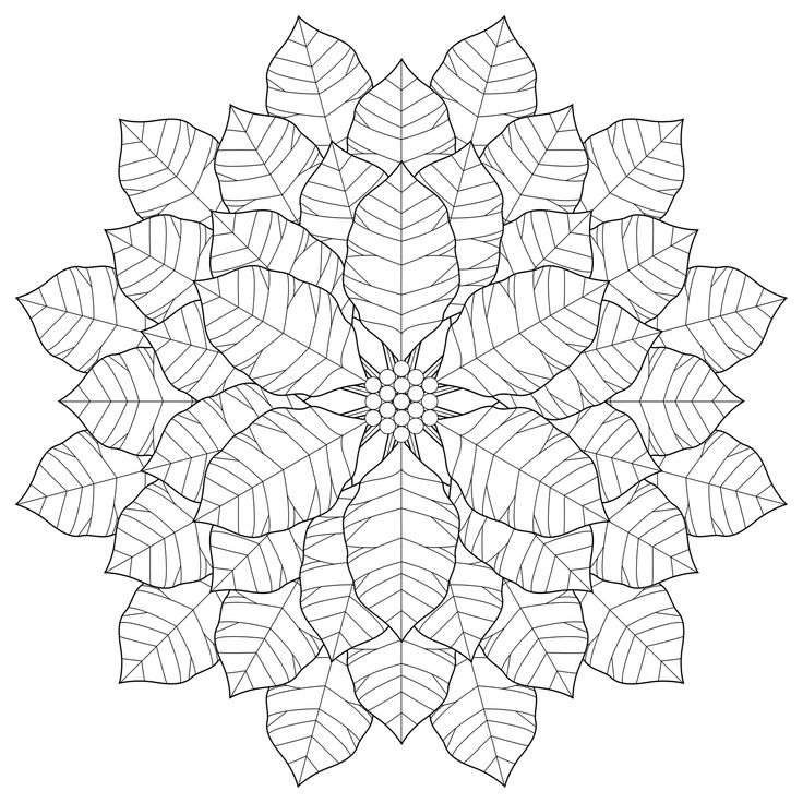 Flower Abstract Coloring Pages : 109 best mandala coloring pages images on pinterest