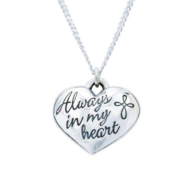 Sterling Silver Heart Necklace - Always in My Heart