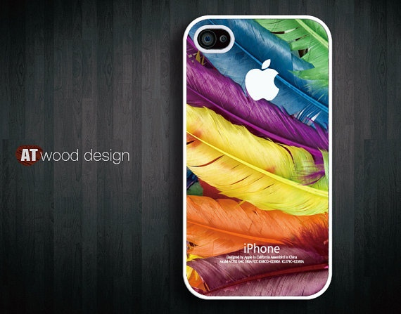iphone case iphone 4s case iphone 4 cover white by Atwoodting, $16.99Iphone Cases, Iphone 4S, Feathers Texture, Cases Colors, 4S Cases, Cases Iphone, Colors Design, Colors Feathers, Iphone 4 Cases