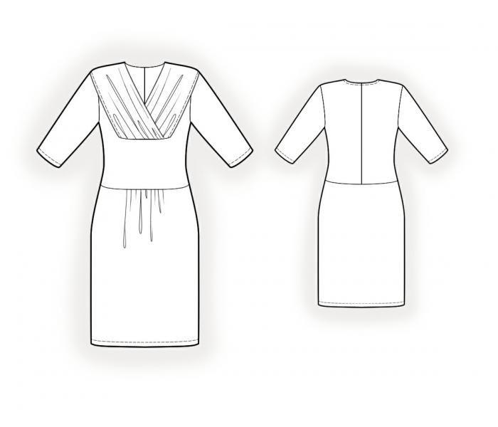 Sy selv. Symønster 4003, kjole. Tast dine egne mål og få  mønstret sendt til din mailboks. Se flere modeller på www.pppp.dk