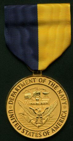 USA Navy Distinguished Public Service Award, established in 1951, is an award presented by the U.S. Secretary of the Navy to civilians for specific courageous or heroic acts or exceptionally outstanding service of substantial and long-term benefit to the Navy, Marine Corps, or Department of the Navy as a whole. Originally a certificate with a lapel pin, the medal was first presented in July 1951. It is the highest recognition that the Secretary of the Navy may pay to a civilian not employed…