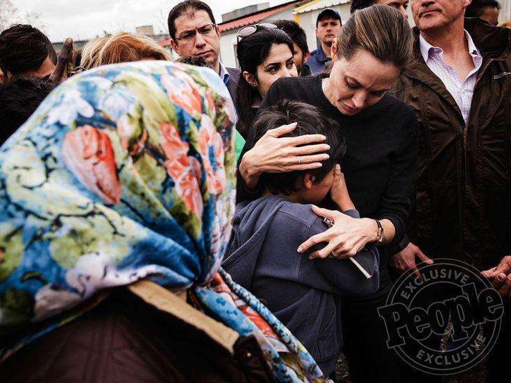 Angelina Jolie Pitt Comforts Emotional Syrian Refugee Children During U.N. Trip to Greece http://www.people.com/article/angelina-jolie-pitt-greece-refugees
