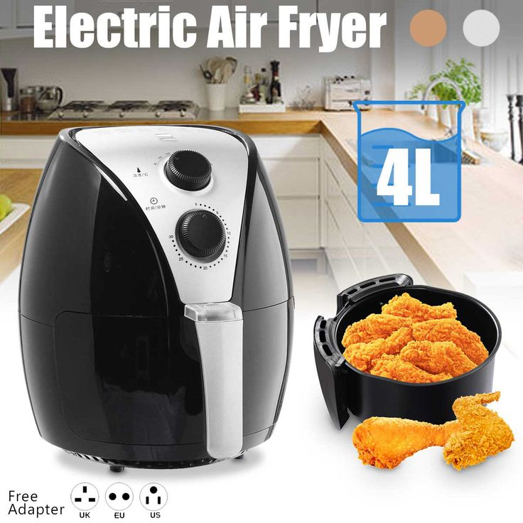 4L Electric Air Fryer Machine Healthy Kitchen Cooker 1350W French Fries Chicken