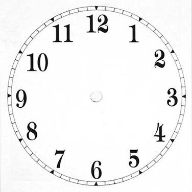 Blank Clock Template
