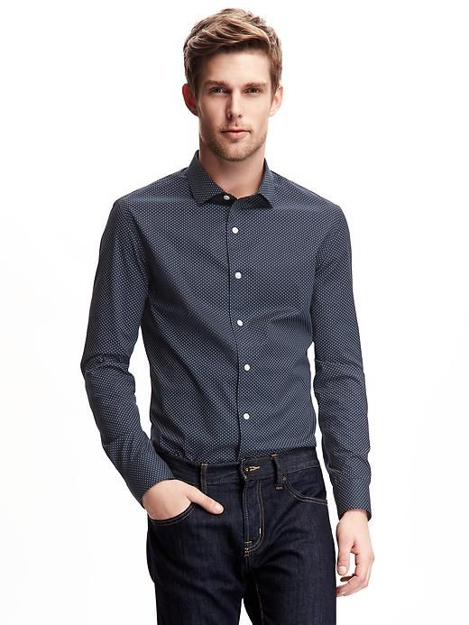 Slim-Fit Non-Iron Stretch Shirt for Men