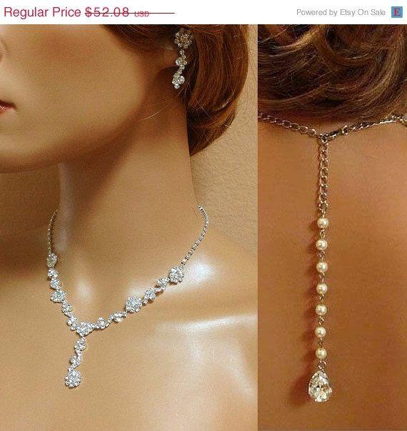 Mariée collier boucles d'oreilles bijoux de mariée par GlamDuchess