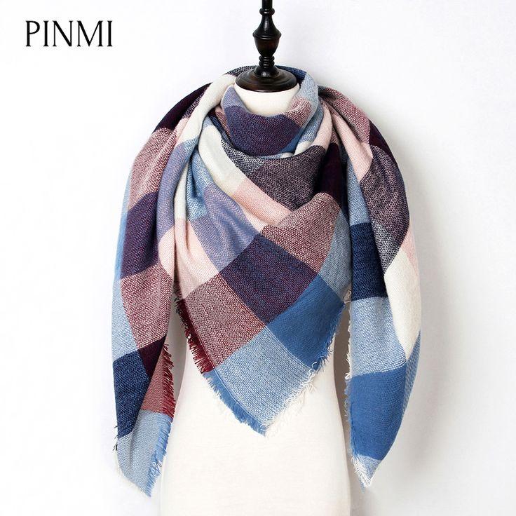 Neue Warme Winter Schal Frauen Schal Mode Tartan Kaschmir Schal Luxus Marke Karierten Decke Schals Dreieck Bufanda Großhandel