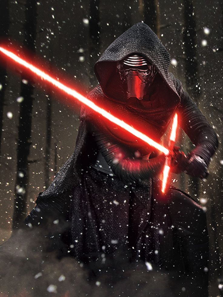 Evil-doer Kylo Ren, also know by his real name Ben Solo, is the main antagonist of the 2015 epic space opera film Star Wars: The Force Awakens of the Star Wars sequel trilogy. Kylo is the powerful, dark and extremely obsessive leader of the Knights of Ren, as well as an agent of the First Order, which is the remnant faction of the Galactic Empire and is the apprentice of Supreme Leader Snoke.