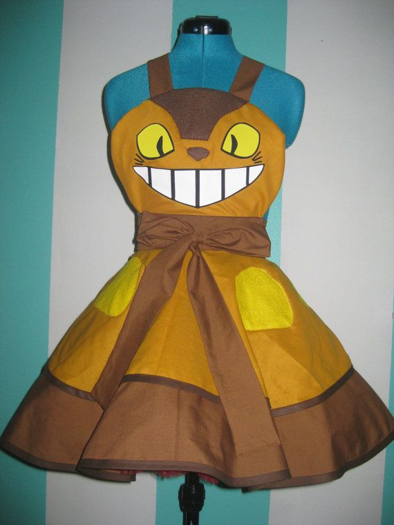 Cat Bus Totoro Inspired Cosplay Apron Pinafore
