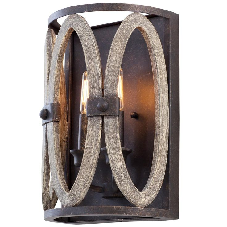 Driftwood Entwined Ovals Sconce  sc 1 st  Pinterest : driftwood sconces - www.canuckmediamonitor.org