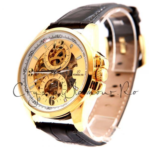 Ceas barbati Goer Circle Gold Automatic