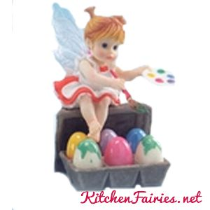 Easter Artist Fairie - From Series Twenty Four of the My Little Kitchen Fairies collection