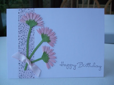 makingpapercrafts.blogspot.com: Birthday Feminine, Makingpapercrafts Blogspot Com, Birthday Cards, Creative Card, Cards Floral, Card Ideas, Card Making, Cards Daisy