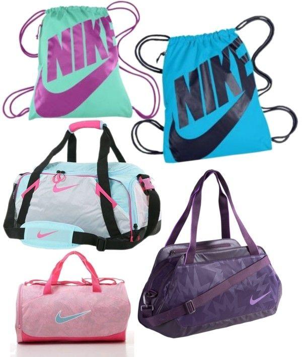 """cool Nike bags"" by elliana-jolene ❤ liked on Polyvore"
