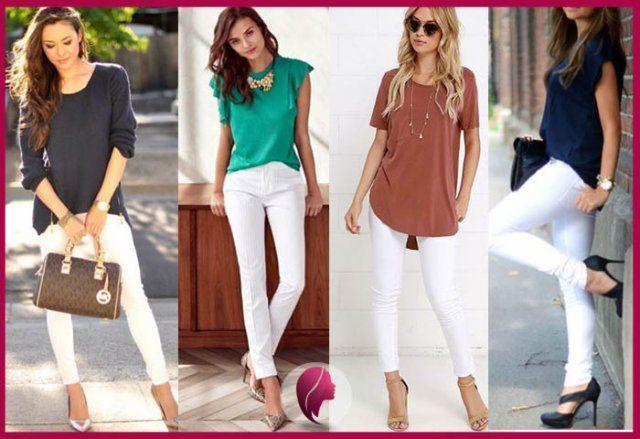 Como Combinar Un Pantalon Blanco De Mujer Pantalón Blanco Mujer Como Combinar Pantalon Blanco Combinar Pantalon Blanco