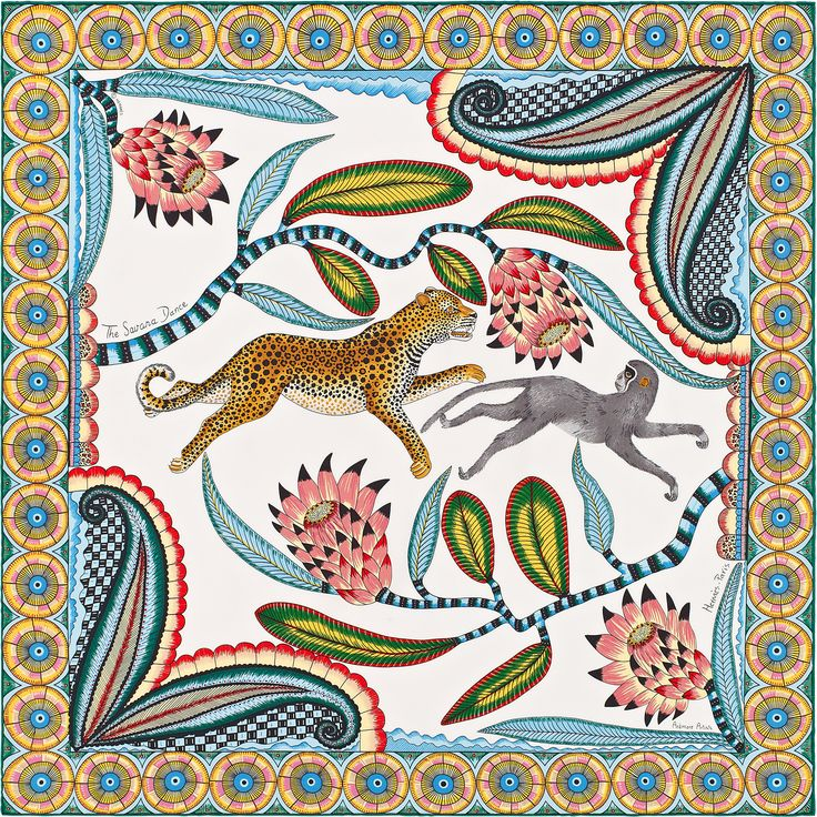 The Savana Dance,  Hermes Spring/Summer 2016 Scarves