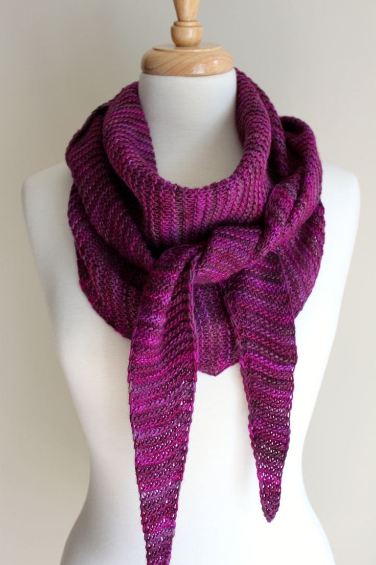 If you enjoyed the Truly Triangular Scarf, then try your hand at this one. With one small change to the pattern, you get a longer, narrower scarf. In this pattern, the same number of stitches are c...