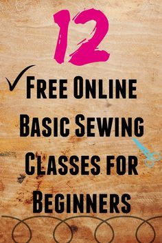 12 Free Online Basic Sewing Classes for Beginners on sewsomestuff.com. If you're new to sewing or are a self taught sewist and would love some review on the basics of sewing THIS is the post you MUST check out. Here you will find 12 FREE ONLINE sewing lessons perfect for beginners. READ NOW!