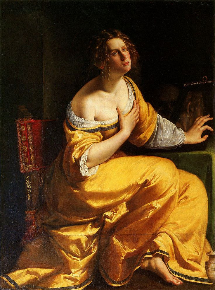 Artemisia Gentileschi, Conversion of the Magdalene (The Penitent Mary Magdalene), 1615-1616 or 1620-1625