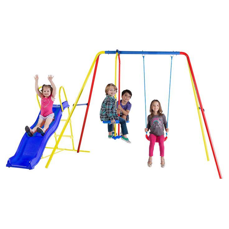 Stats 2 Unit Swing Set with Slide | Toys R Us Australia