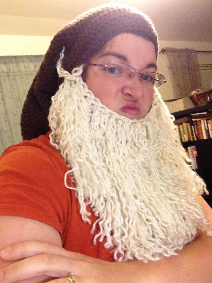 Grumpy Dwarf Halloween Hat And Beard Costume Crochet ...