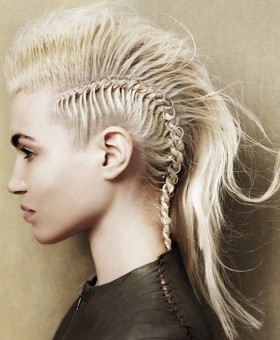 Длинные Волосы Ирокез в Pinterest... Все о панк прическах | Марина