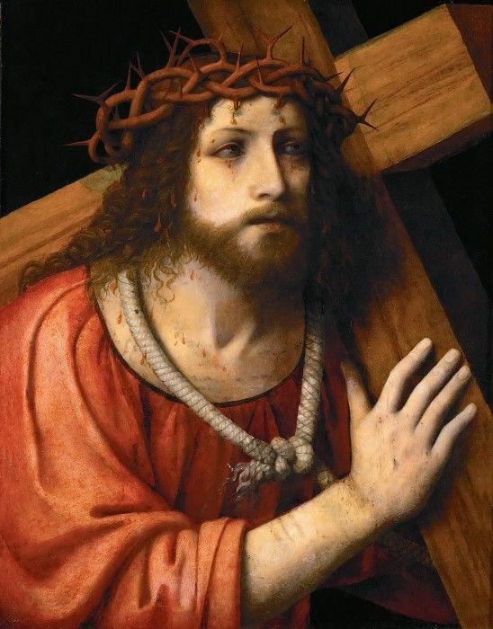 Бернардино Луини - Христос, несущий крест.