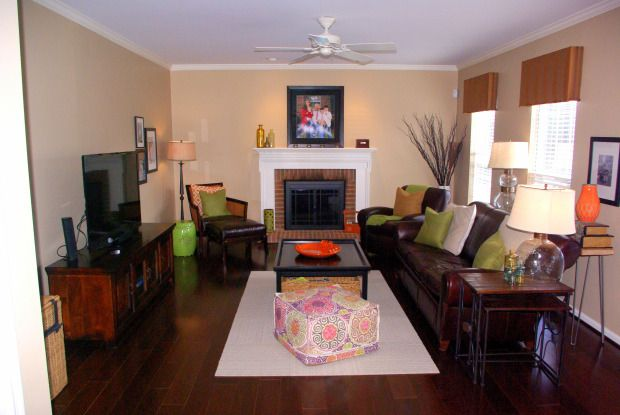 25 best ideas about narrow family room on pinterest for Long narrow basement design solution