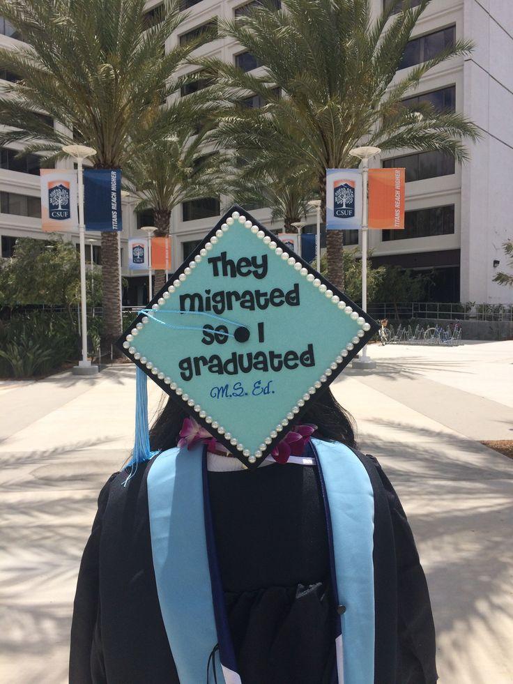 Proud first generation latina masters graduate
