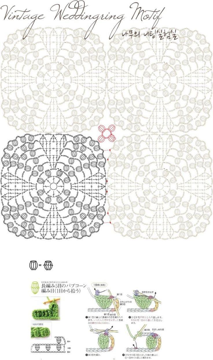 31 best crochet wedding ring afghan images on Pinterest