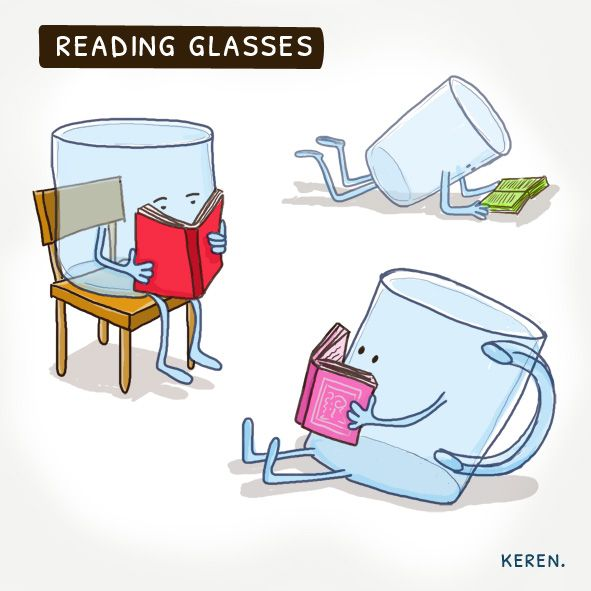 dingsanddoodles: Reading glasses #funny_quotes #books #reading