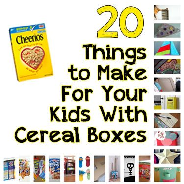 "20 Things to Do With Your Empty Cereal Boxes (Your Toddler Will LOVE These!) - I saw this and had to pin. So cute. I am in love with the ""post"" box for mail for your child. Must do that."