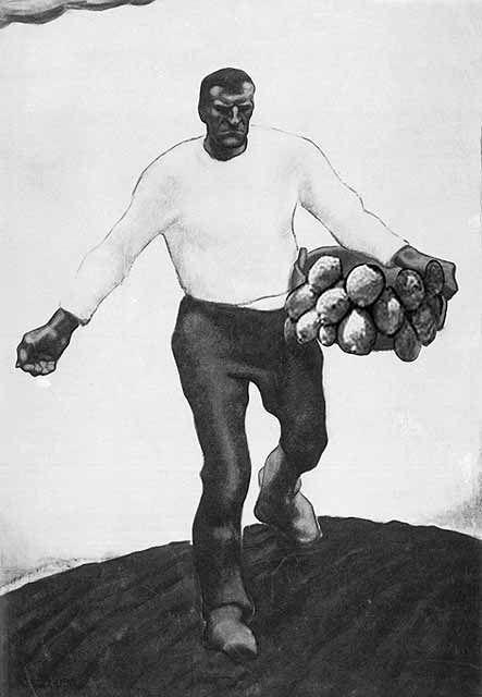 """sämann aus dem triptychon """"erde"""", 1912 von albin egger-lienz"""
