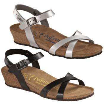 Papillio ALYSSA Womens Strappy Buckle Flat Sandals Silver | Shuperb