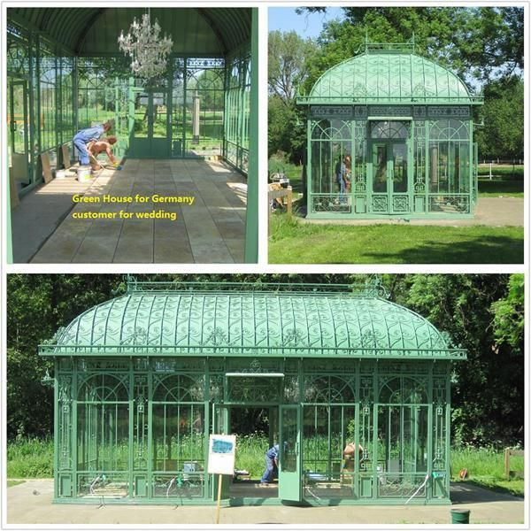 2016 Hot Sale Agricultural Or Garden Low Cost Glass Green house for Sale