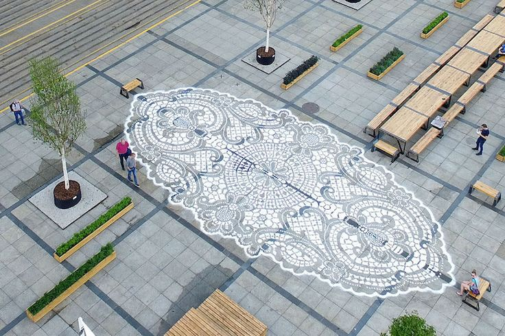 Street Artist Adds a Delicate Touch of Lace to Public Urban Spaces - My Modern Met NeSpoon