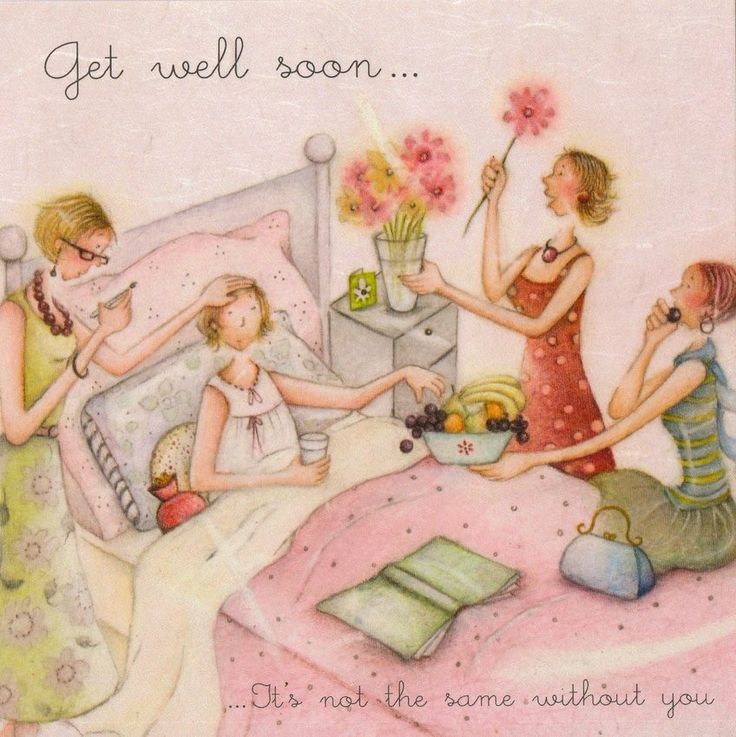 Get Well Soon Card Ladies Who Love Life
