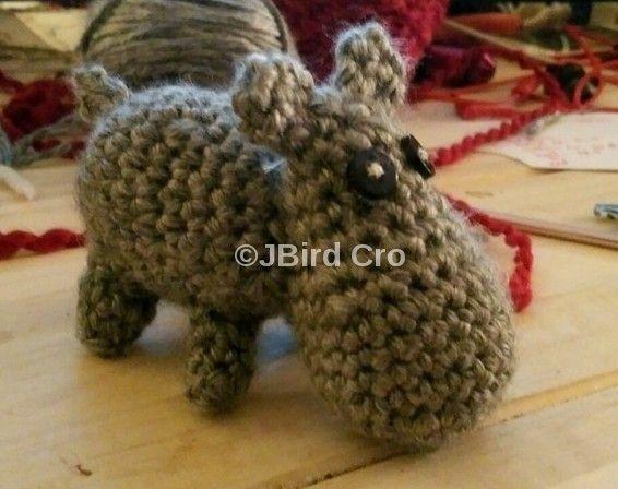 Happy Hippo Senor (crochet, amigurumi, animals)
