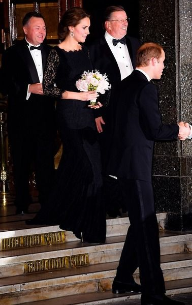 Catherine, Duchess of Cambridge and Prince William, Duke of Cambridge attend the The Royal Variety Performance at London Palladium in London, England. 13 November 2014