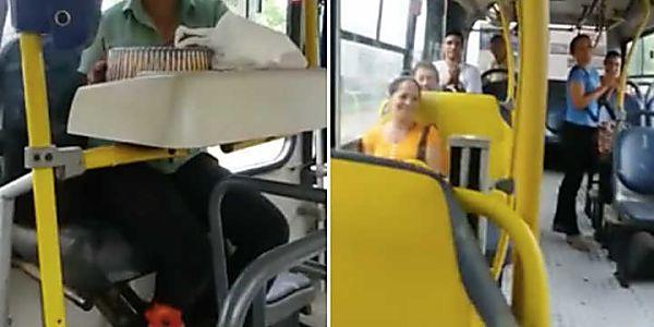 Cobradora de ônibus ganha bolo de aniversário surpresa