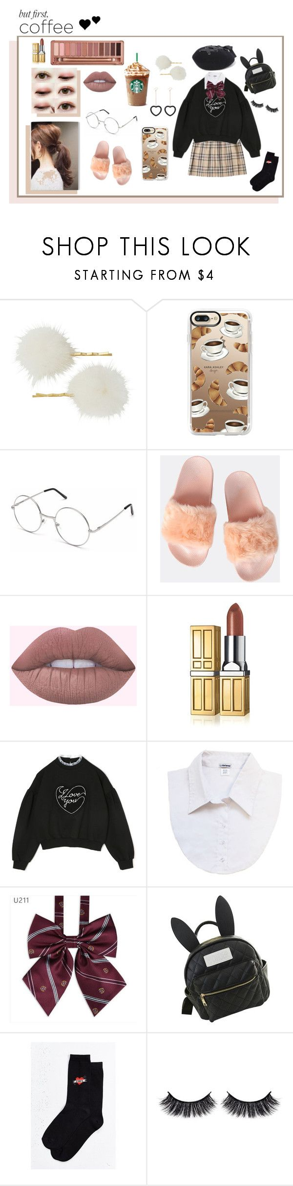 """Milky Bun"" by fawntears ❤ liked on Polyvore featuring Casetify, Elizabeth Arden, Dickies, cutekawaii, Urban Outfitters, Battington and Urban Decay"