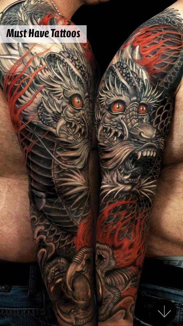 die besten 25 japanische drachen tattoos ideen auf pinterest japanischer drache asiatische. Black Bedroom Furniture Sets. Home Design Ideas