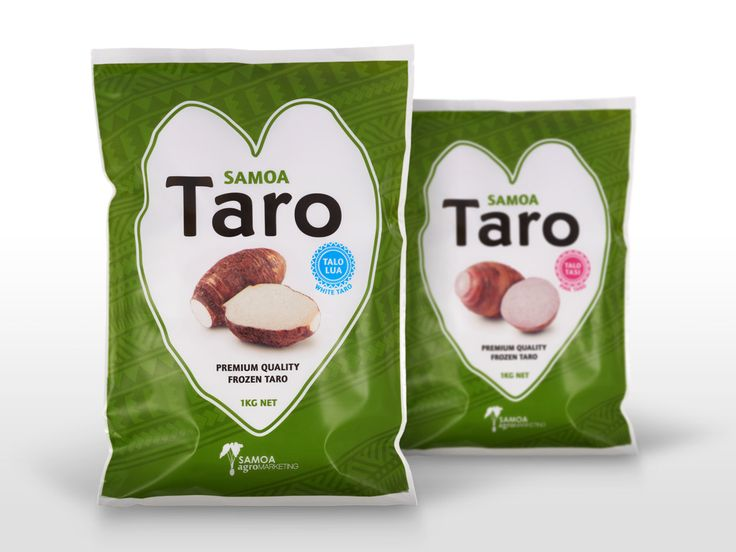 Samoa Taro packaging