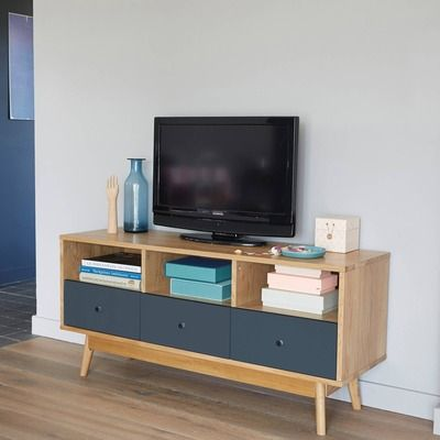 TV-meubel met 3 nissen en 3 laden
