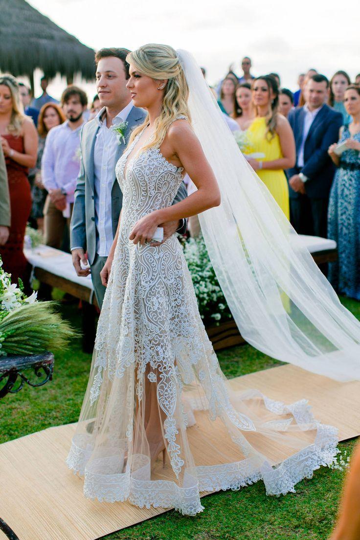 Vestido de Noiva em Renda para Casamento Diurno | CASAMENTO  - Decoração in 2019 | Wedding gowns, Elegant wedding dress, Wedding dresses