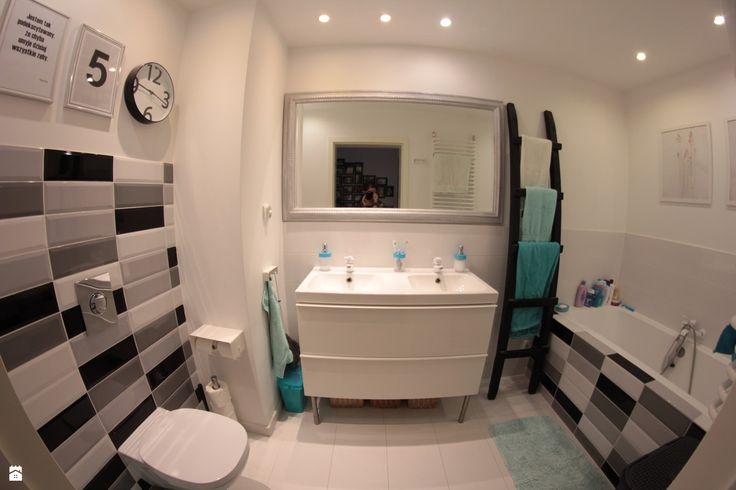 Łazienka styl Skandynawski - zdjęcie od Agnieszka Kijowska - Łazienka - Styl Skandynawski - Agnieszka Kijowska, black & white, scandinavian design, bathroom