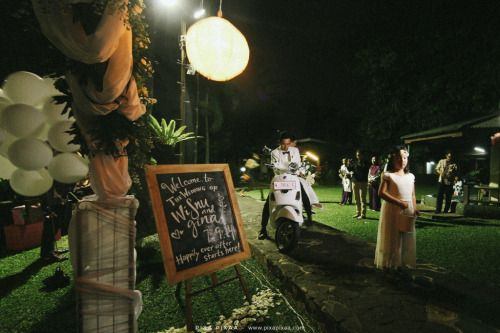 Wisnu & Gina Wedding. garden wedding inspiration.