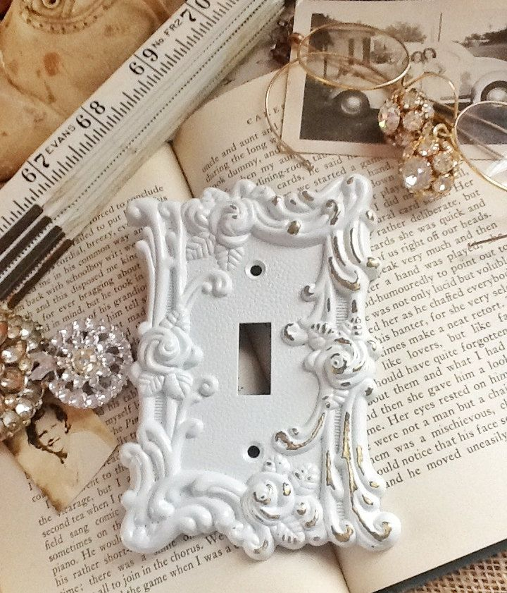 Vintage Metal Wall DecorLight Switch CoverIn by AlacartCreations, $16.00