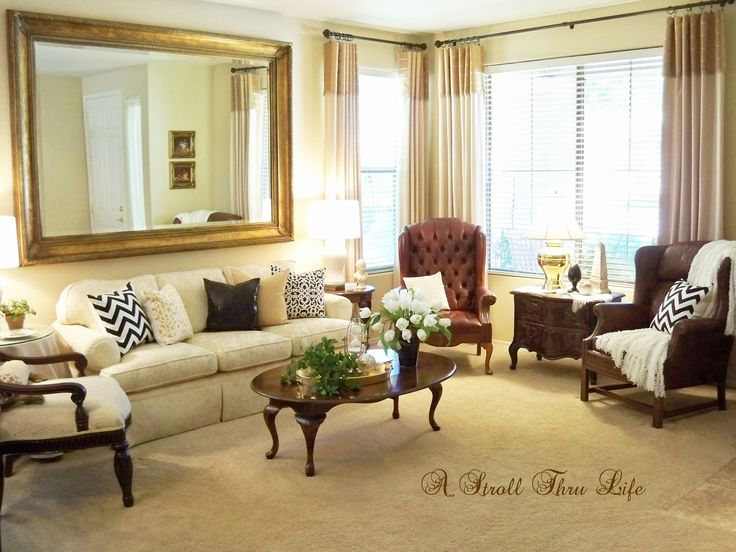 A Stroll Thru Life: How To Update A Traditional Room With Color U0026 Pattern Part 85